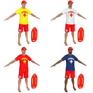 pack lifeguard 3D model
