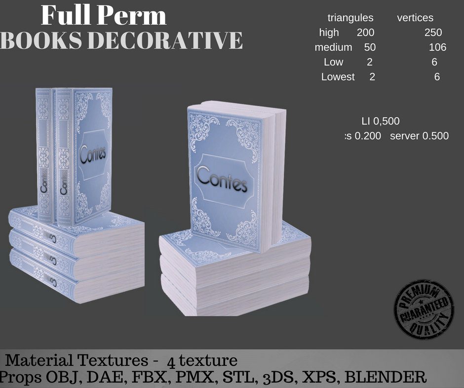 3D book decorative