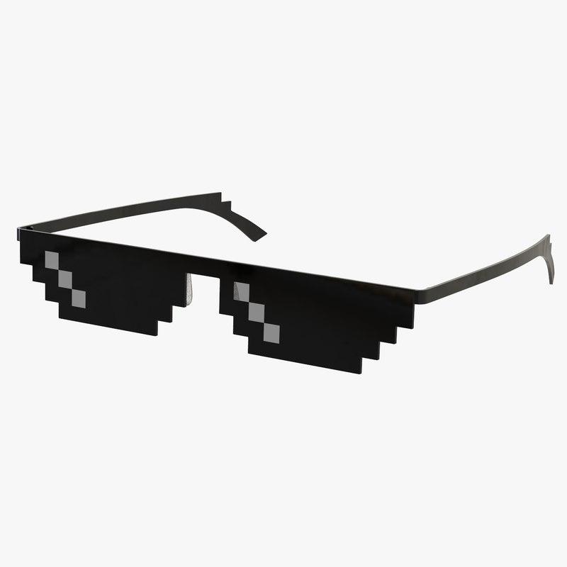 thug life pixel 3D model