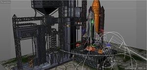 spaceshuttle base launch 3D model