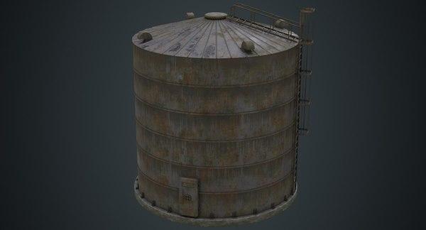 silo 1b 3D model