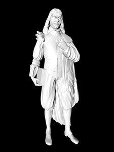 3D body rene descartes model