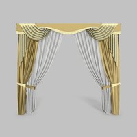 3D curtains 13 modeled model