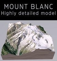 mount blanc 3D model