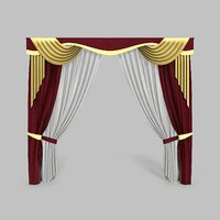 curtains 14 modeled 3D