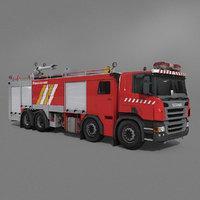 3D truck firefighter