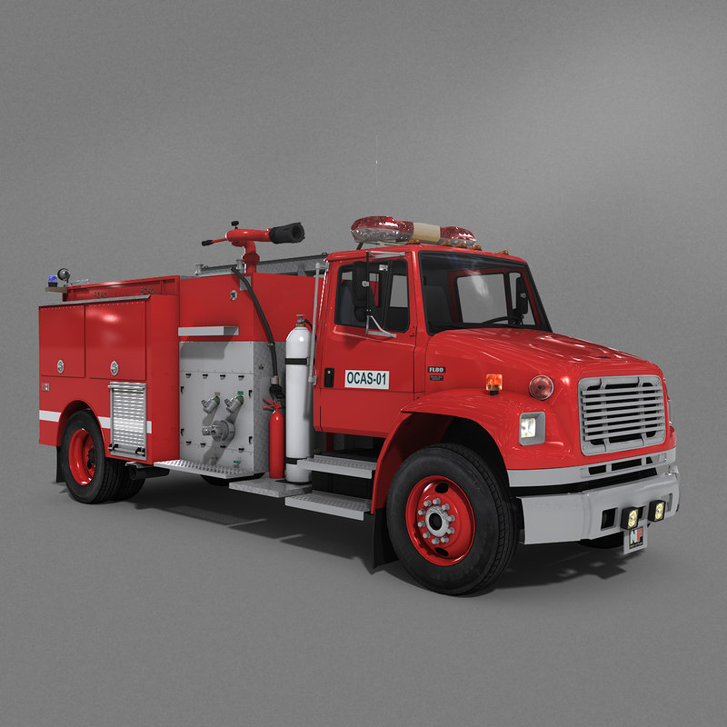 truck firefighter ocas model