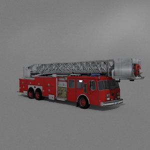 e ladder truck 3D model