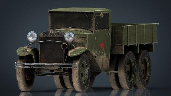 3D gazz aa truck dirt