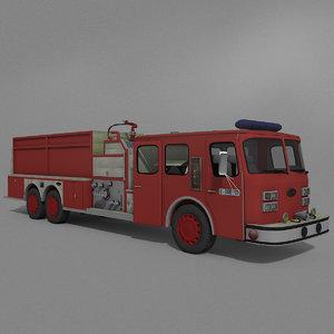 3D e pumper truck model