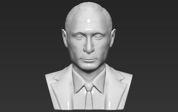 vladimir putin bust ready 3D model