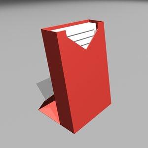3D model note pad