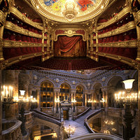 3D model palais garnier interior paris opera
