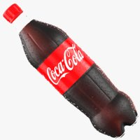 3D wet coca bottle model
