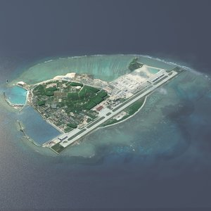 3D model pacific island naval base