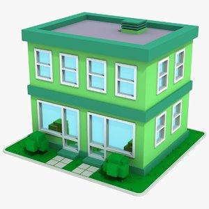 cartoon house 8 3D