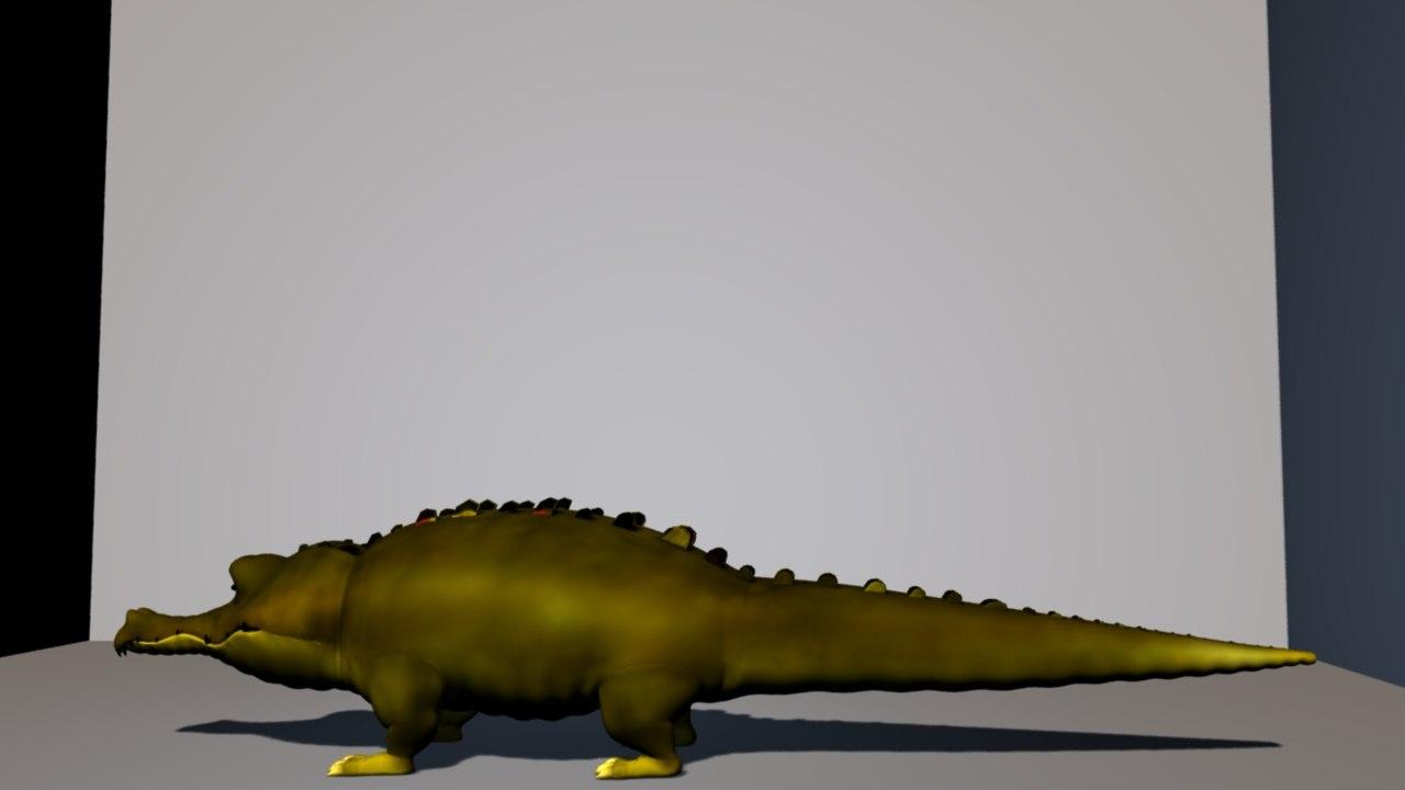 animal crocodile 3D