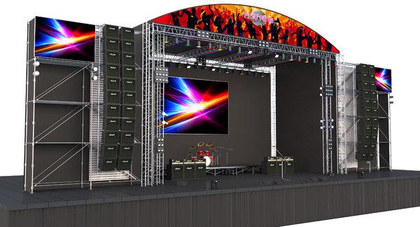 stage scene 3D model