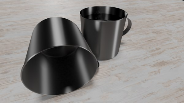 3D iron cup