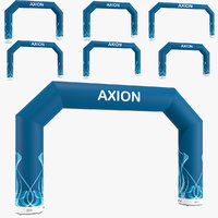 Angled inflatable arch Axion 400-800