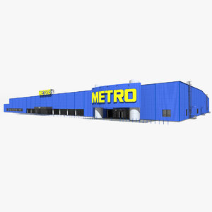 metro cash carry hypermarket 3D model