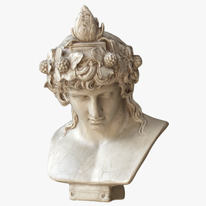 3D dionysus bust model