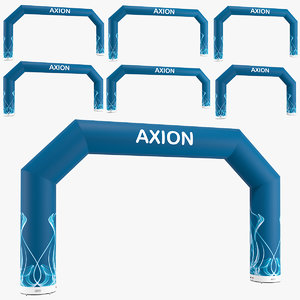 axion inflatable arch angled 3D