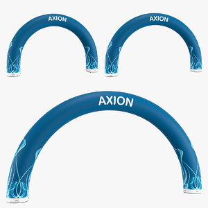 axion rounded inflatable arch 3D model