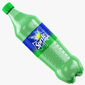 wet sprite bottle 3D model