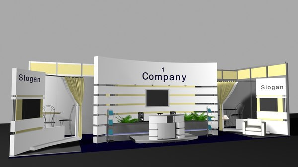 expo exhibition stand 3D