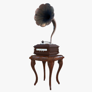3D model phonograph device electronic