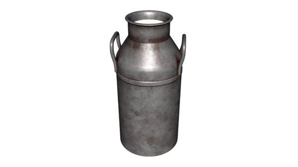 milk urn 3D model