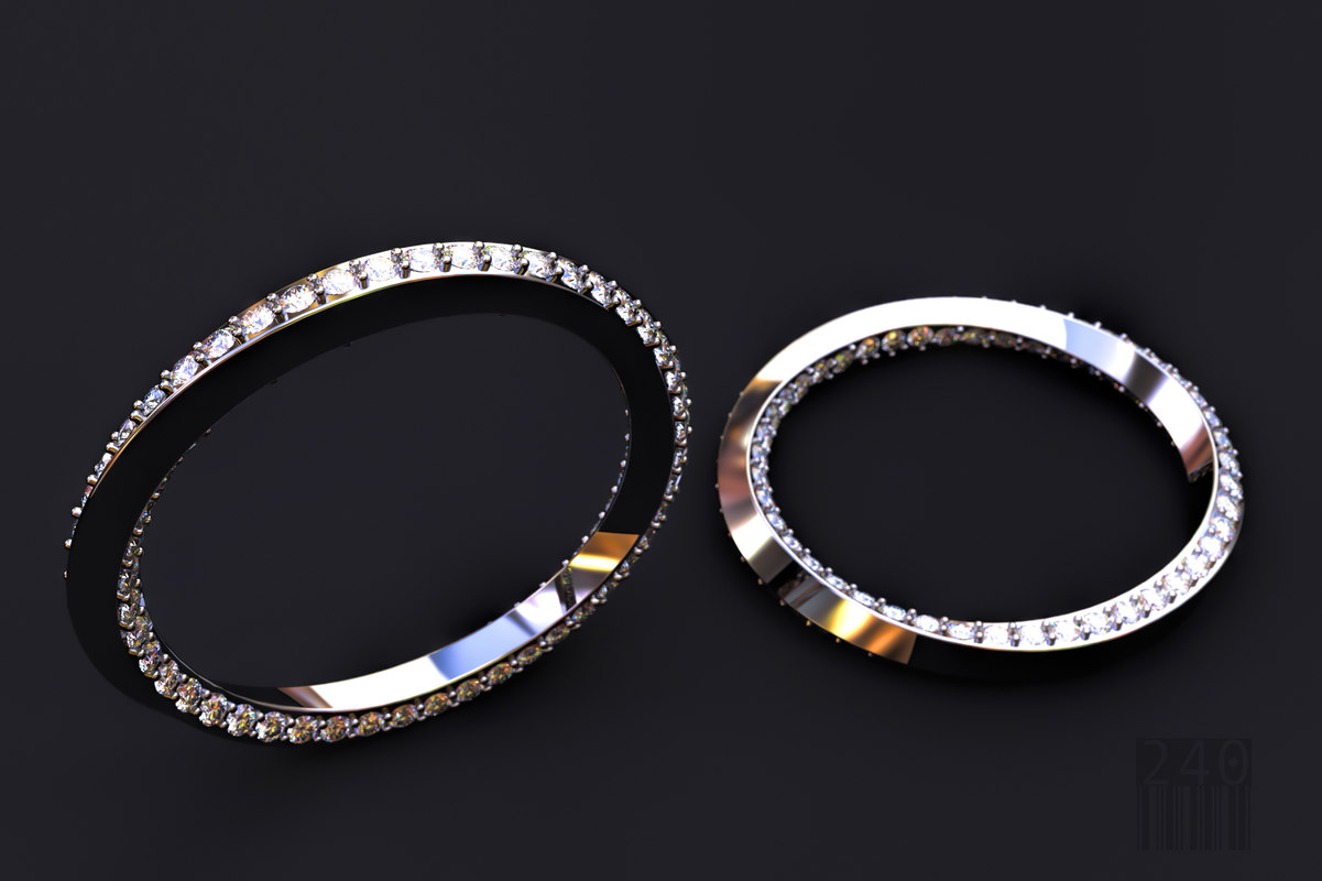 3D twisted diamond ring