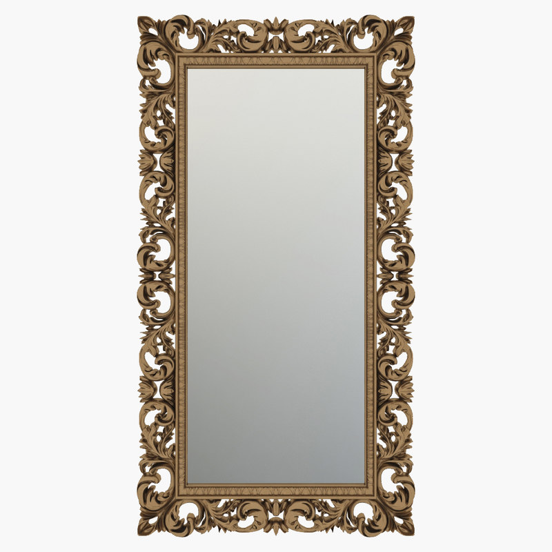 3D model classic italian outdoor mirror