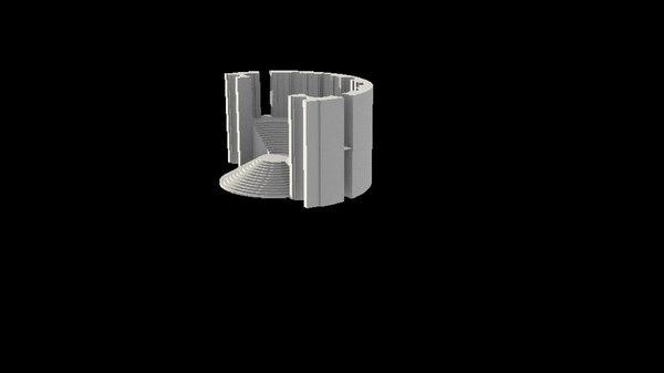 vatican belvedere bramante 3D model