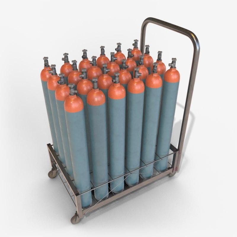 3D cylinder carts