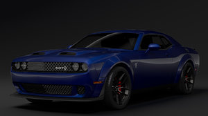 3D model dodge challenger srt hellcat