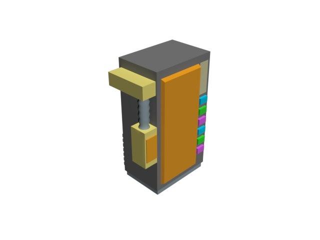 cartoon vending machine 3D model
