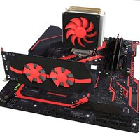 3D motherboard video card model