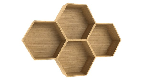 3D hexagon shelving