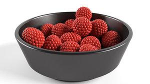 3D blackberry fruit plate
