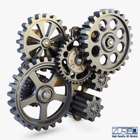 gear mechanism v 7 3D model