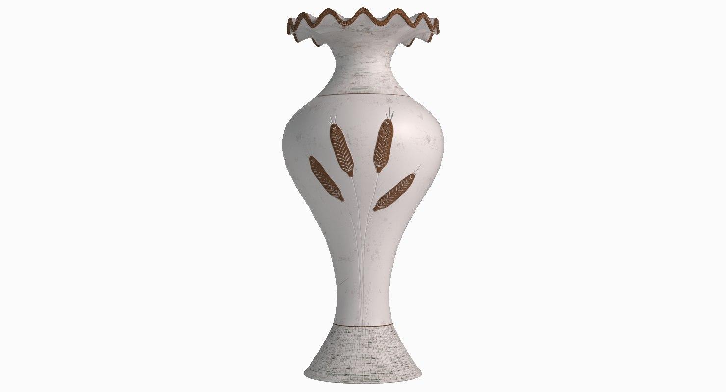 3D decorative mediterranean vase model