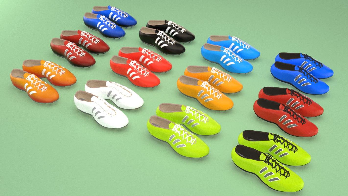 football boots footwear shoes 3D