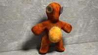 ragged teddy bear eyes 3D model
