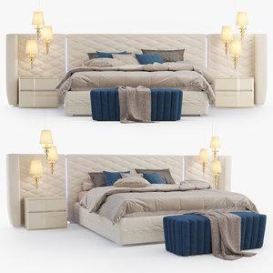 3D dall agnese chanel bedroom model