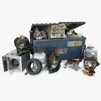 dumpster pbr unreal 3D model