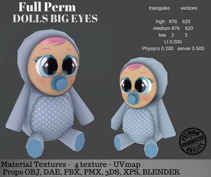 3D doll big eyes