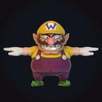 wario video character 3D model