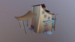 toon cartoon house 3D model